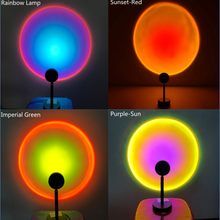 Sunset light Lamp LED Night Light Sunset Red Rainbow Projection Desk Floor Lamp for Bedroom Bar Coffee Store Wall Decoration