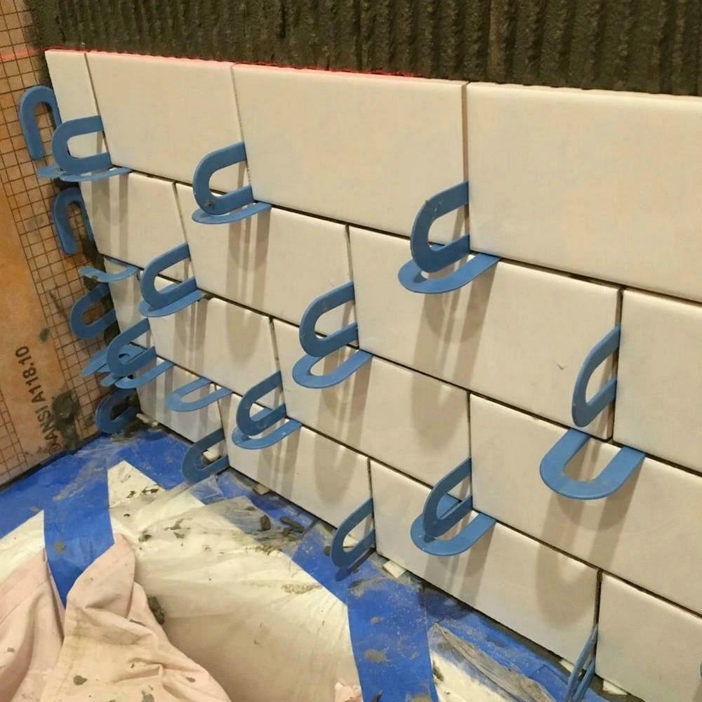 100pcs horseshoe shim tile spacers 1 16 inch 1 5mm for aligning marble granite porcelain and large format tile