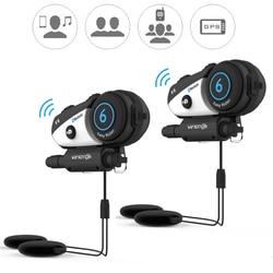 Vimoto V6 BT Interphone Motorcycle Helmet Headset Intercom simultaneously pair 2 different Bluetooth High-fidelity transmission