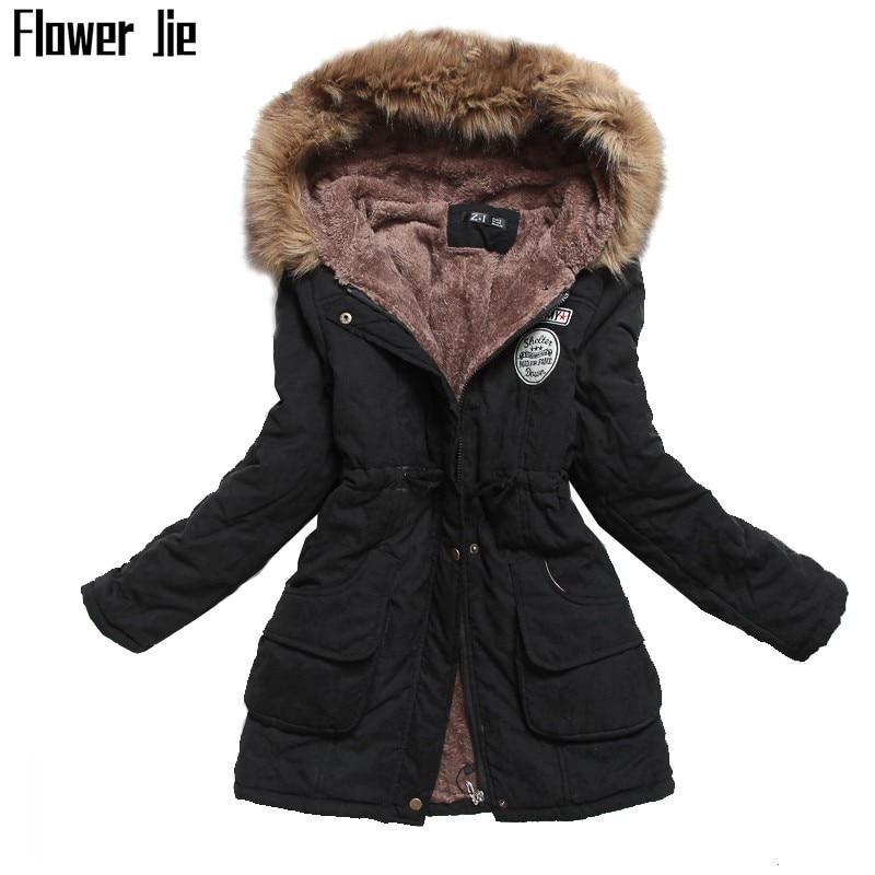 Зимняя куртка для женщин 2020 нового размера плюс 3XL с капюшоном, тонкая длинная парка Mujer с хлопковой подкладкой, повседневное черное пальто д...