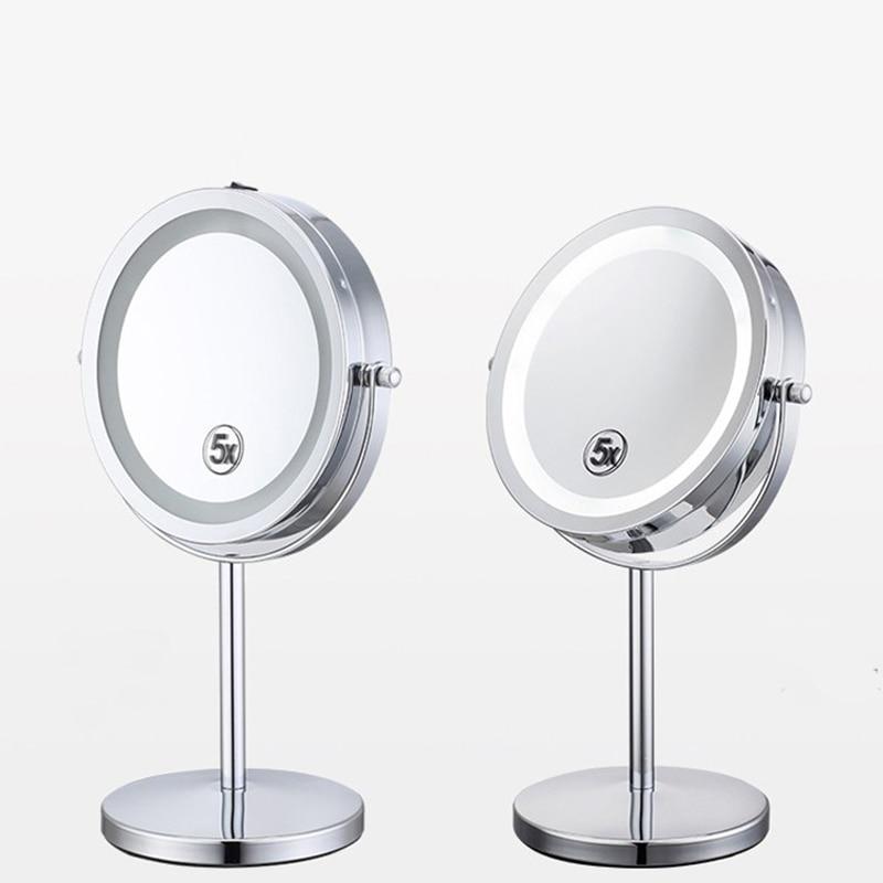 7 Polegada desktop espelho de maquiagem 2-face