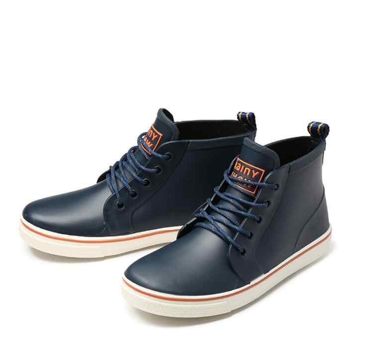 Dropshipping แฟชั่น Rainboots กันน้ำรองเท้าตกปลารองเท้าสั้นรองเท้าบูทยางฝน Man Bot Garden รองเท้าคนรักรองเท้า