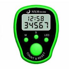 Мини-маркер для стежков, счетчик пальцев, ЖК-дисплей, электрический цифровой дисплей, светодиодный светильник для шитья, вязальный инструмент для плетения