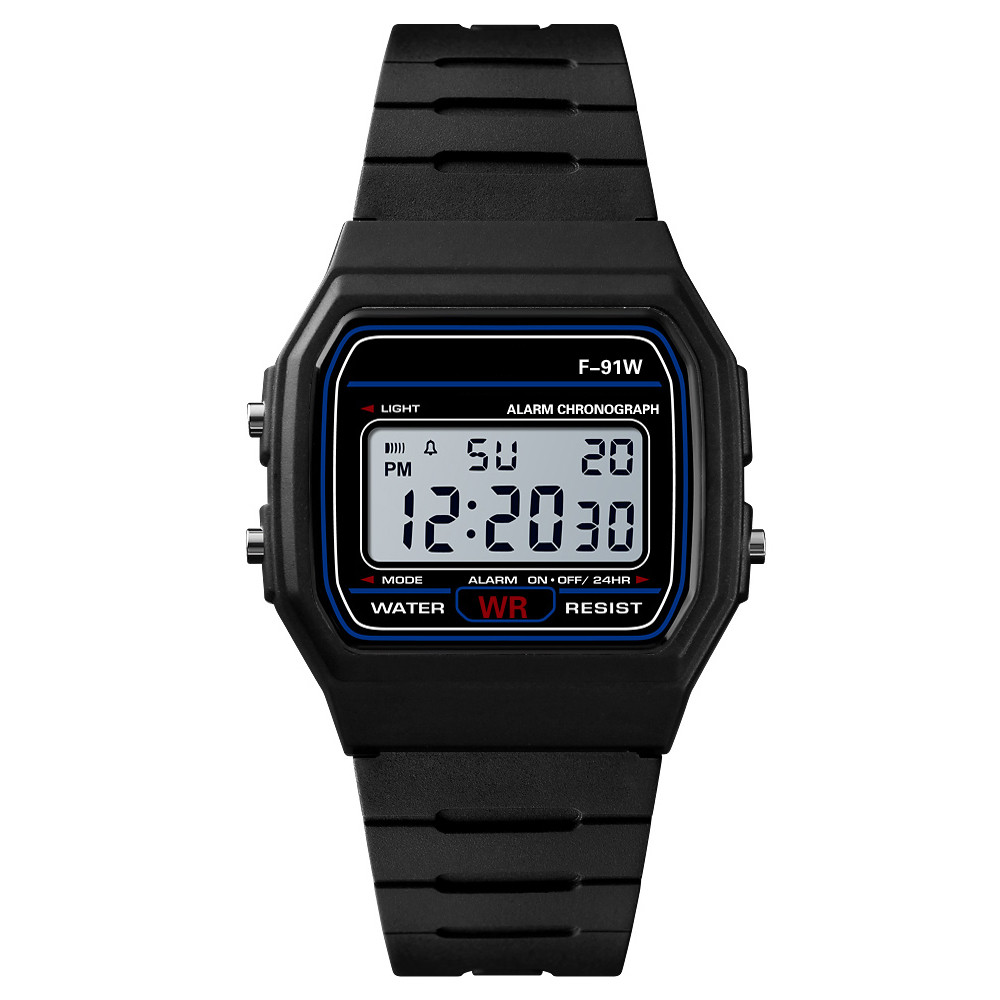2020 Reloj Hombre Reloj Mujer Men Led Digital Watches Fashion Plastic Multi-function Electronic Watches Men Sports Watches F91w
