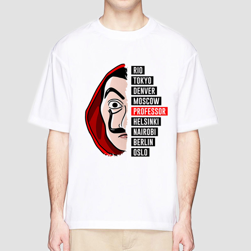 La Casa De Papel T Shirt Money Heist Tees TV Series Tshirts Men Short Sleeve House Of Paper T-Shirt Funny Design Tops And Tee