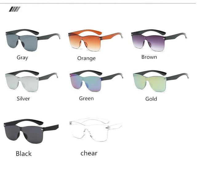 2020 Fashion One-piece Cat Eye Sunglasses Women/Men Gradient Lens Retro Mirror Rimless Sun Glasses Vintage Travel Eyewear Oculos 10
