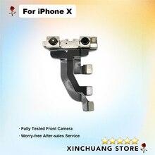 Oryginalna przednia mała kamera do Apple iPhone X z lekkim czujnikiem zbliżeniowym Flex Cable Ribbon Repair Part