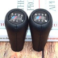 цена на Genuine Leather Gear handle For BMW E46 accessories E60 1 3 5 6 Series E36 E30 E92 E91 E90 X1 X3 X5 With M logo gear shift knob