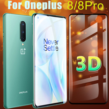 Screen Protector For Oneplus 8 pro glass Oneplus8 3D Oneplus8pro Tempered Glas armor Pro8 1Plus One Plus 8Pro Protective Film 9h