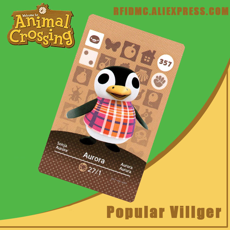 357 Aurora Animal Crossing Card Amiibo For New Horizons