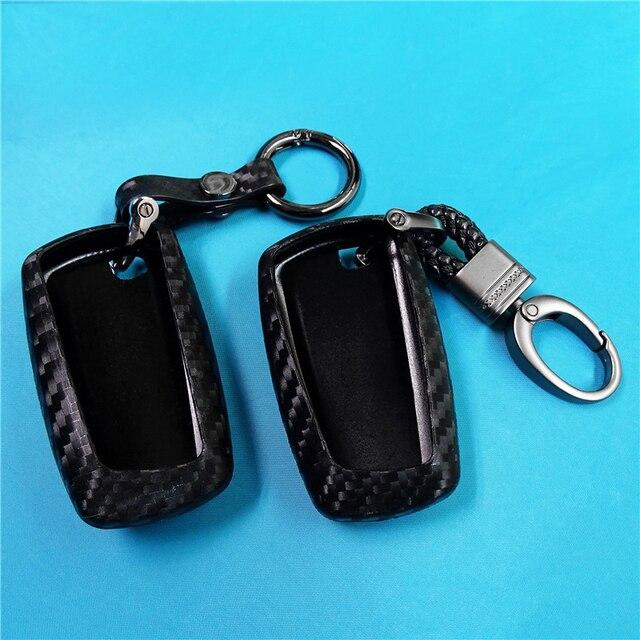 Coque de protection pour clé de voiture en Fiber de carbone, pour Bmw série X1 X3 X4 X5 X6 M3 M5 Z4 F20 F30 F10 E90 E60 E30