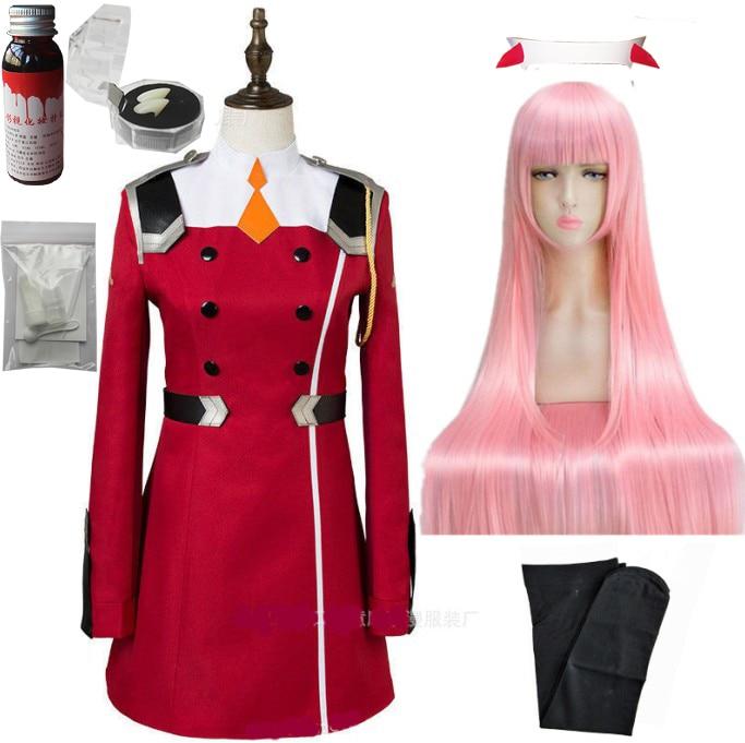 02 Zero Two Косплей Костюм Дарлинг в франкс Косплей DFXX женский костюм полный комплект платье - Цвет: package C