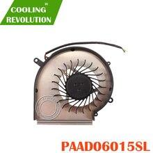 Novo Para MSI GE62 GE72 GP70 PE60 GL62 GL72 Ventoinha GPU PAAD060 15L 3pin 0.55A N302