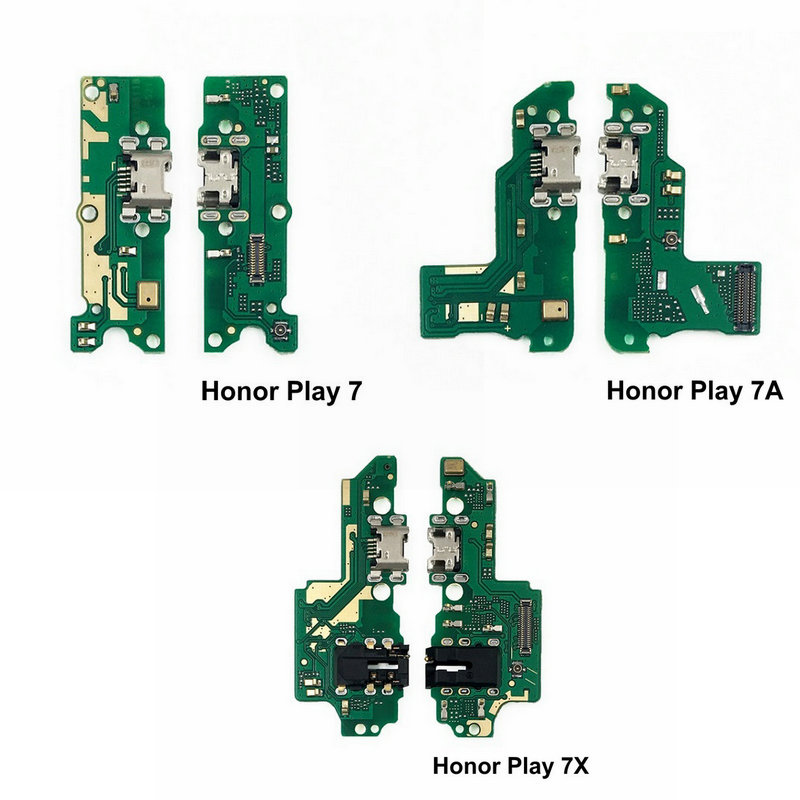 New USB Charge Board & Microphone Module For Huawei Honor Play 7 7A 7X Charging Port Dock Flex Cable Repair Parts