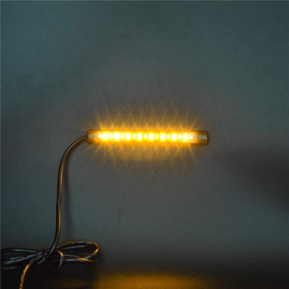 Światła hamowania motocykla włączony kierunkowskaz oświetlenie tablicy rejestracyjnej migające światła stopu hamulca kierunkowkaz ciężarówka ATV