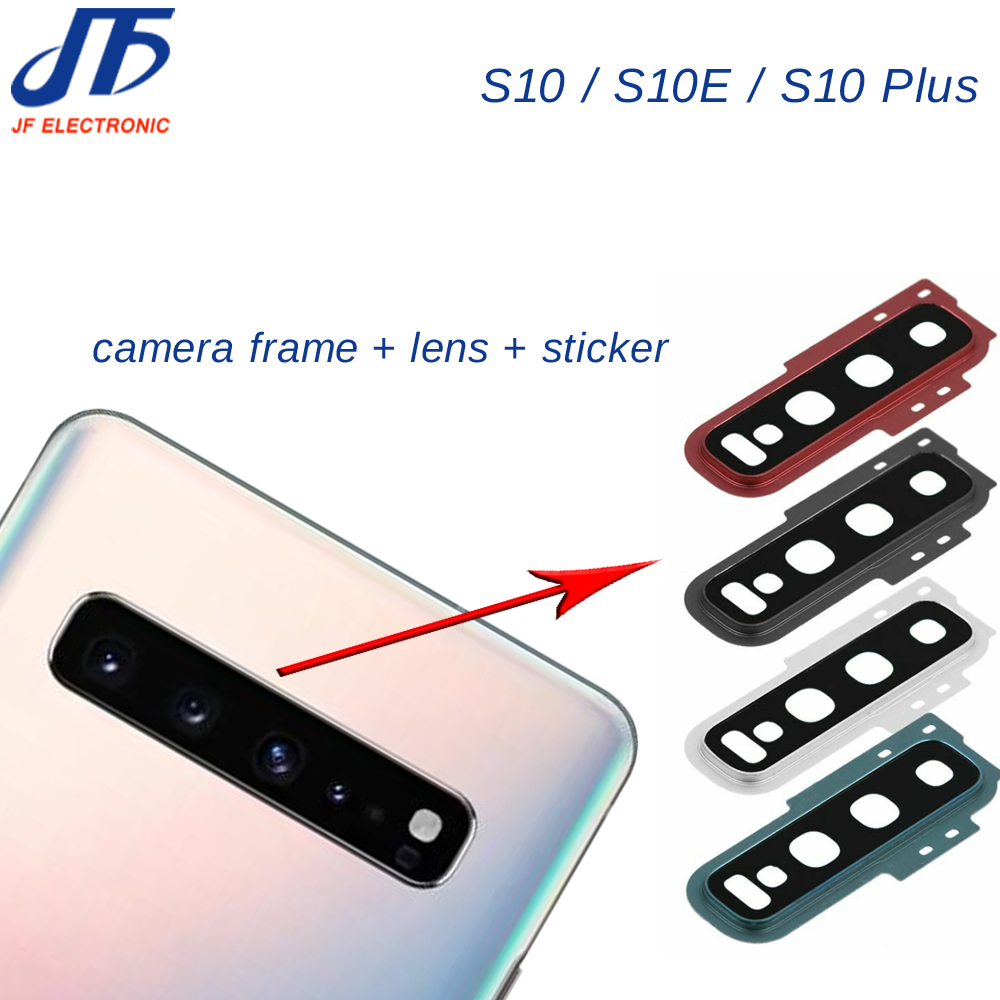 10pcs Back Rear Camera Lens Ring Cover Frame Bezel Adhesive For Samsung Galaxy S10 S10 Plus S10 S10e Replacement Part Mobile Phone Housings Frames Aliexpress