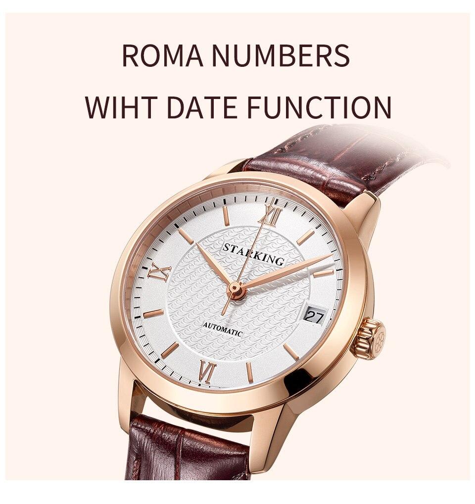 Reloj automático STARKING para mujer. Caja de acero. Sumergible 5 ATM