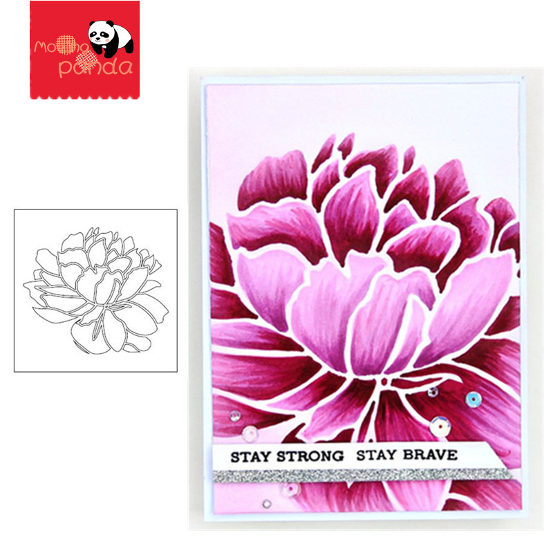 Mega Bloom Stencil Stamp Stencil For Metal Cutting Dies And Stamps Painting Stencil Template Scrapbooking DIY Crafts Paper