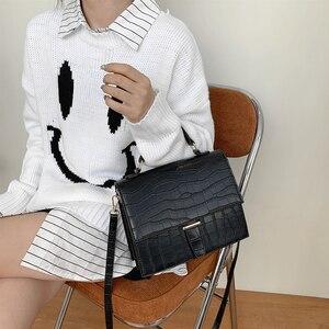 Image 5 - Burminsa Style coréen femmes sacs à main grande capacité femme sacs à bandoulière Crocodile modèle PU dames sacs de messager hiver 2020