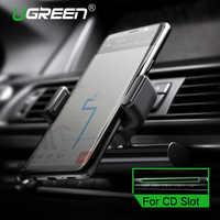 Ugreen telefone do carro montagem cd slot titular do telefone do carro para o iphone 8 suporte magnético clipe de telefone celular para huawei tablet gps