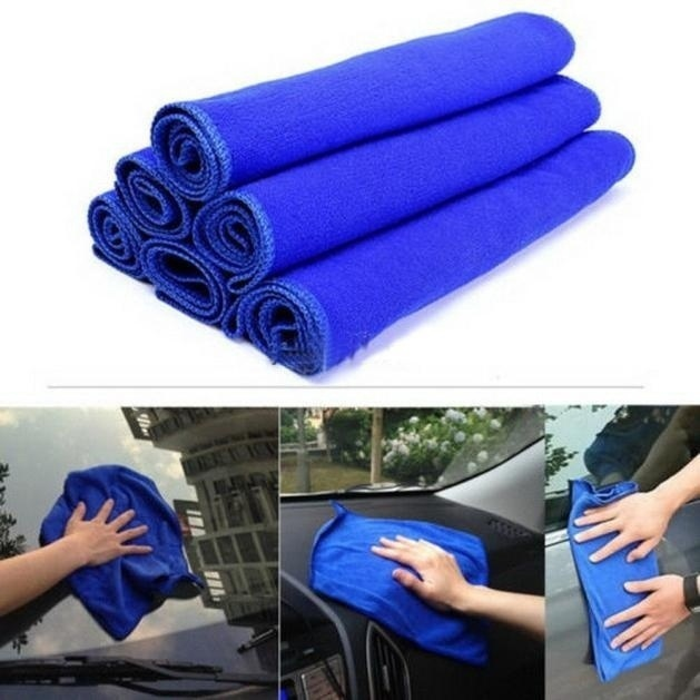 5Pcs/set Soft Auto Car Microfiber Wash Cloth Cleaning Towels