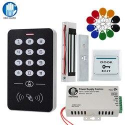 OBO 手ドアアクセス制御システムキット RFID キーパッド + 電源 + 電気 180 キロ磁気ロックストライクドアロック家庭用
