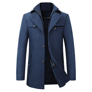 Image 4 - High Quality Wool Coat Men Overcoats Topcoat Mens Single Breasted Coats Jackets New Arrival Winter Wool Casual Manteau Homme