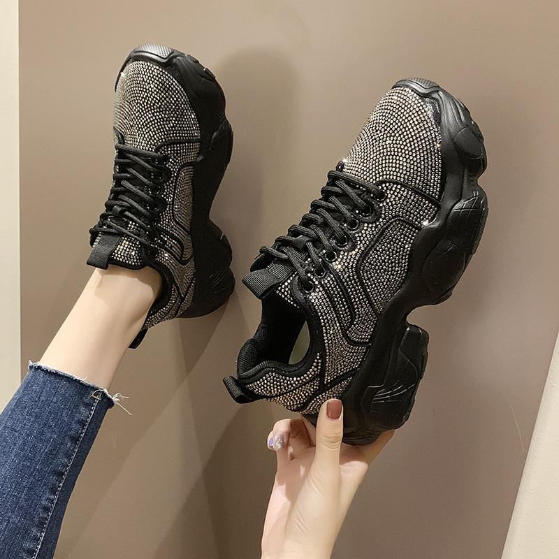 BIGFIRSE  Women Casual Shoes Trend  Rubber Woman Fashion Sneaker Vulcanized Shoes Zapatillas Mujer 2020 Fashion Shoes For  Women