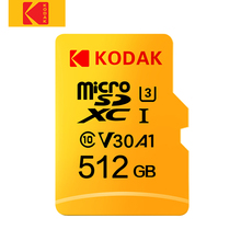 コダックマイクロ SD U3 U1 マイクロ SD メモリカードマイクロ SD 512 ギガバイト 256 ギガバイト 64 ギガバイト 128 ギガバイトのフラッシュ TF カードタブレット карта памяти cartao デ memori