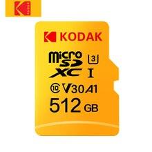קודאק מיקרו SD U3 U1 מיקרו SD זיכרון כרטיס מיקרו SD 512GB 256GB 64GB 128GB פלאש TF כרטיס עבור Tablet карта памяти cartao דה memori