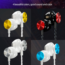 In-ear 3.5mm Wired Earphone Metal Sport Music Headset with Microphone 4D Stereo Wired Earphones for Iphone Samsung Xiaomi wired earphones with microphone for phone sports headset stereo earphone with microphone for iphone xiaomi samsung