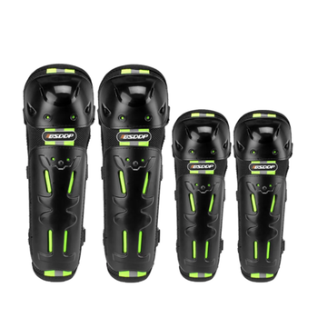 Brand New 4pcs Motorcycle Knee Pad Elbow Protector Night Reflective Protective Gear Thickening Protection