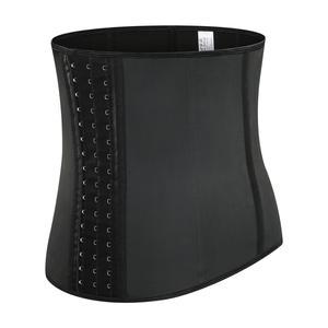 Image 3 - 9 aço desossado mulher látex cintura trainer espartilhos longo torso perda de peso neoprene underbust esportes cinto corpo shaper shapewear