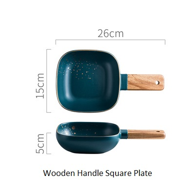Wooden Handle square