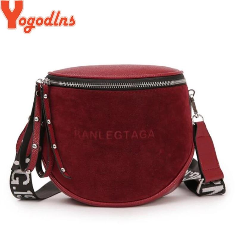Yogodlns Fashion Women Small vintage Lady Semicircle Saddle Shouder Bag Bucket Bags Crossbody Tote Bag Females casual Bag 1