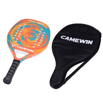New Popular Beach Tennis Racket Carbon Fiber Men Women  Sport Soft Face Tennis Racquet with Paddle Bag Cover 6