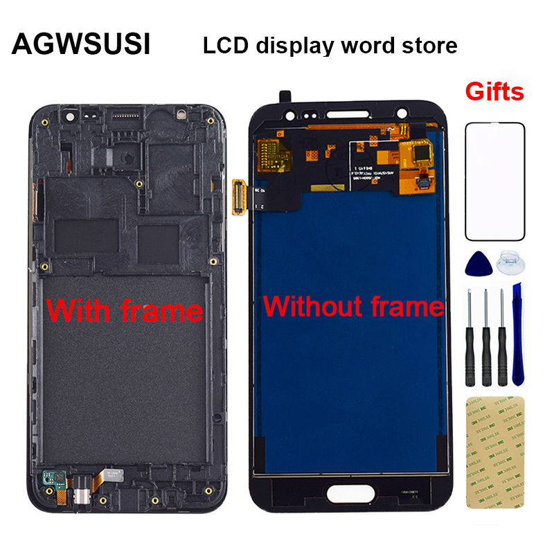 <font><b>LCD</b></font> For Samsung Galaxy J5 2015 <font><b>LCD</b></font> J500 <font><b>J500F</b></font> J500G J500M J500H J500FN <font><b>LCD</b></font> Display Touch Screen Digitizer Assembly Frame image