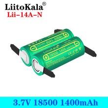 LiitoKala Lii 14A 18500 1400mAh 3.7 فولت بطارية قابلة للشحن Recarregavel بطارية أيون الليثيوم ل مصباح ليد جيب + النيكل