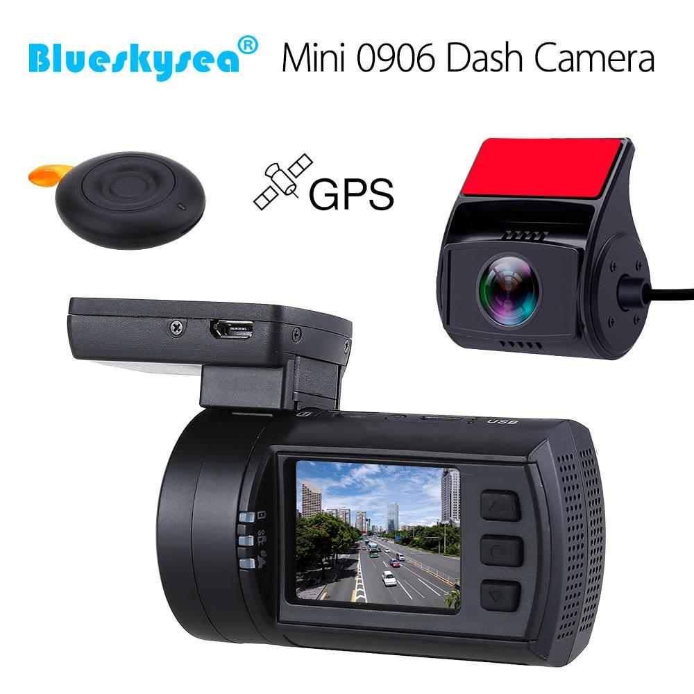 Blueskysea мини 0906 видеорегистратор HD 1080P Двойной Автомобильный видеорегистратор gps DVR Автомобильный видеорегистратор sony IMX322 ночное видение