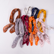 70*70cm Imitated Silk Scarves For Women Head Scarves Floral