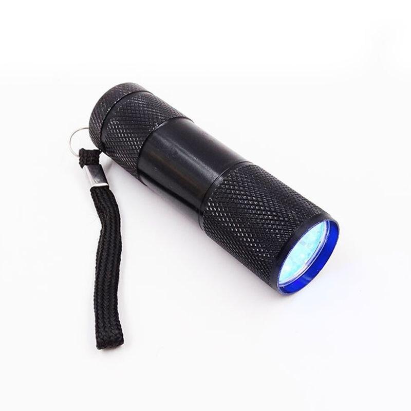2020 New 9W UV Resin Curing Lamp Light 9 LED 395nm UV Blacklight Flashlights Jewelry Tool