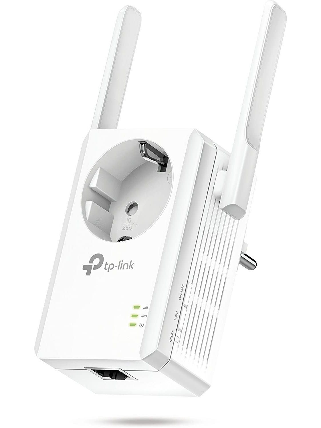 TP Link TL-WA860RE N300 Wifi Network Repeater Extender Amplifier Ethernet Port With Plug 300 Mbps 2 External Antennas