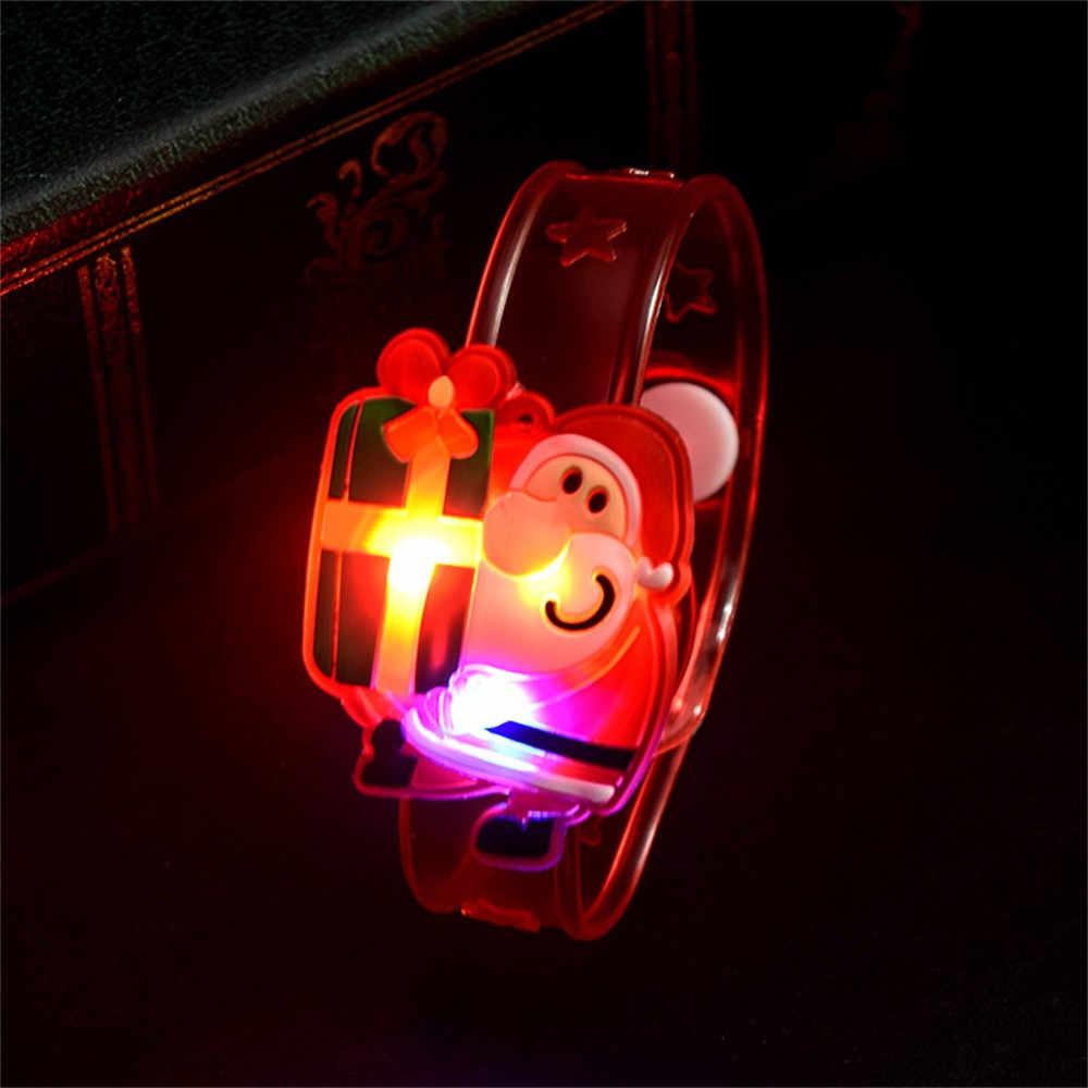 Natale Babbo natale Giocattoli Istantanei Luce Da Polso Prendere La Mano Del Partito di Ballo Cena LED Ornamento Ragazze Giocattoli Partito di Nuovo Anno Di Natale regali