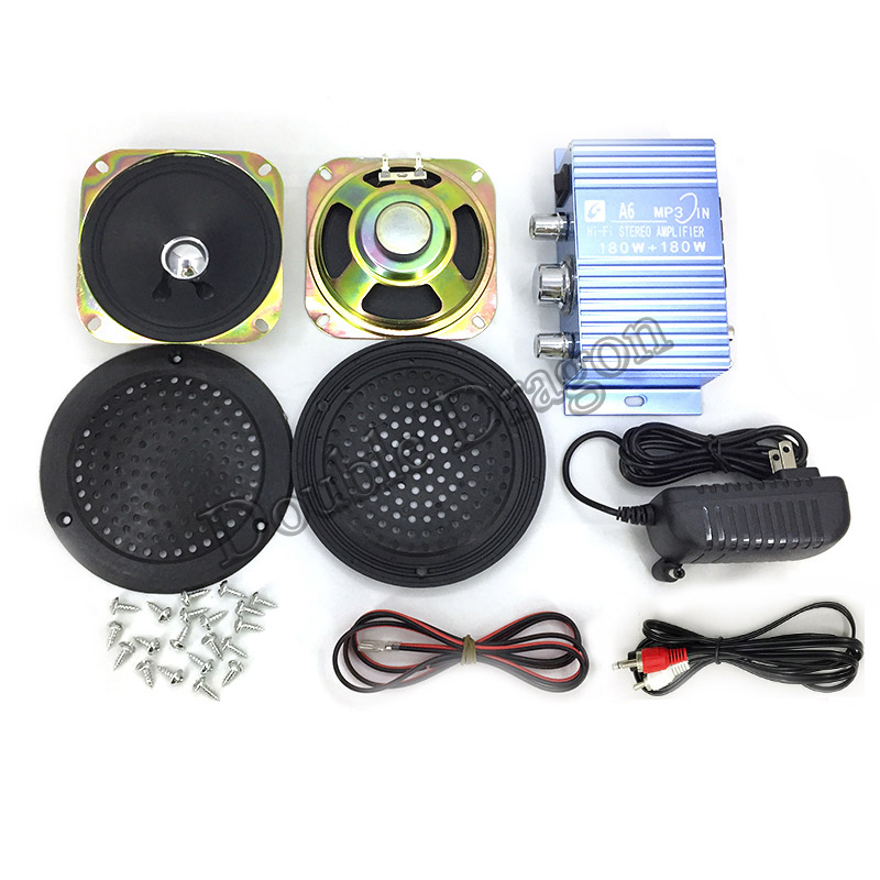 Hi-Fi Audio Stereo Amplifier Arcade Game Audio Kit 4 inch Speaker for Raspberry Pi Multi Game PCB Pinball Machine image