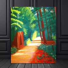 David Hockney Scene In The Path Canvas Painting Prints Living Room Home Decoration Modern Wall Art Oil Posters Pictures