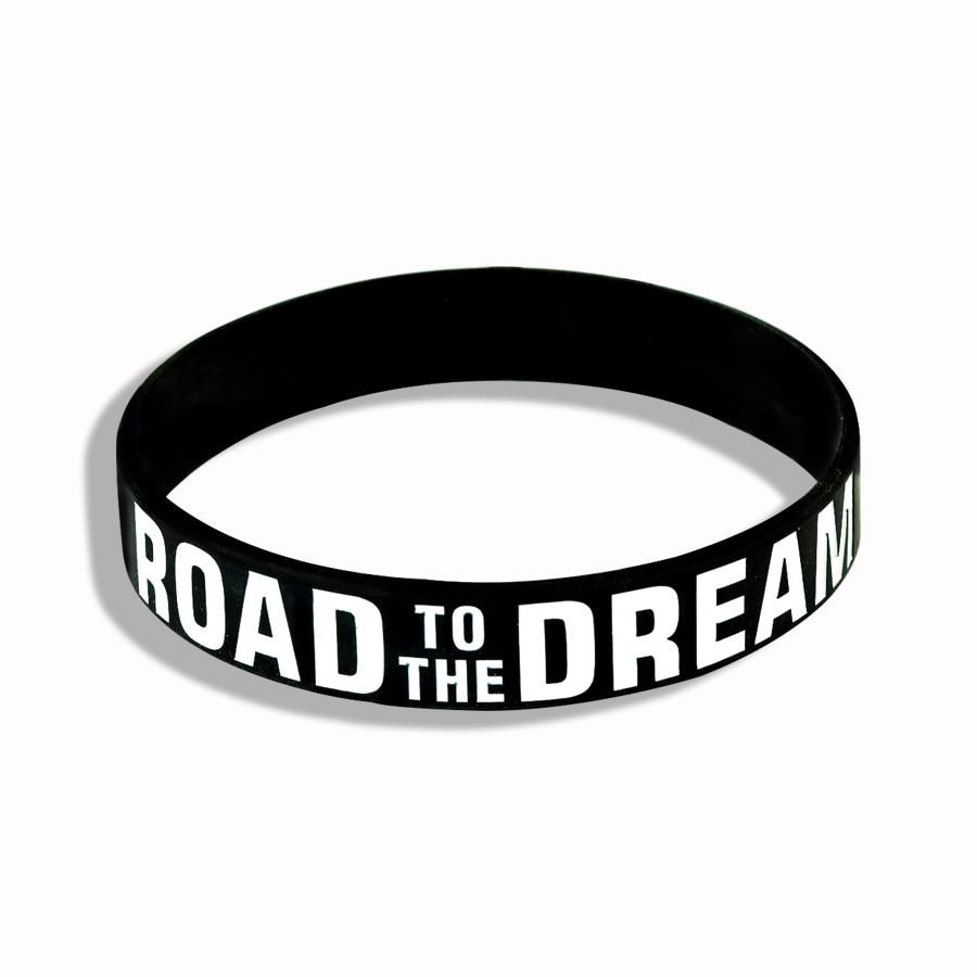 """Never Give Up"" Motivational Bracelet Inspirational Sports Rubber Band Elastic Inspirational Bracelets for Men Accessories 5"