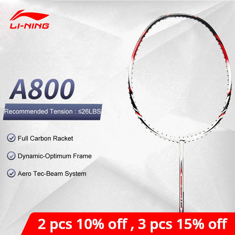Li-Ning A800 Badminton Racket Full Carbon Ball Control No String Li Ning LiNing Durable Single Sport Racquets AYPG356 ZYF163