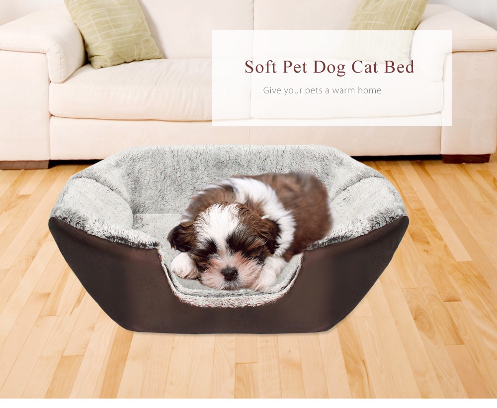 2 Colors Paw Pet Sofa Dog Beds Waterproof Bottom Soft Fleece Warm Cat Bed House Petshop Cama Perro 7
