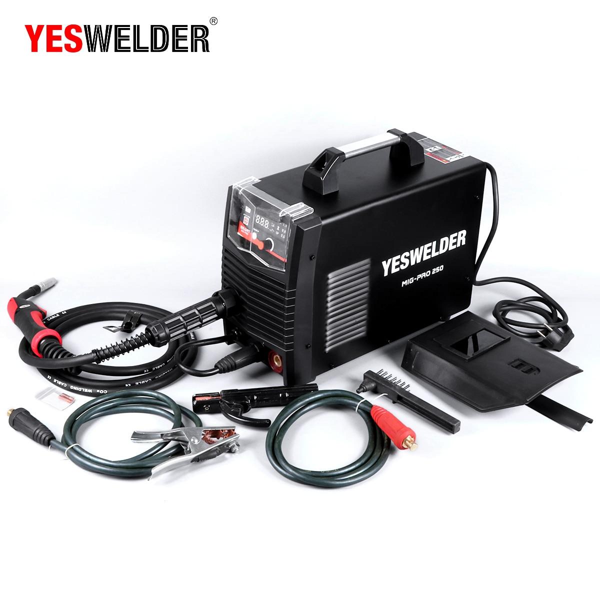 Image 3 - YESWELDER MIG250A No Gas and Gas MIG Welding Machine MIG Welder With Light Weight Single Phase 220V Iron WelderMIG Welders   - AliExpress