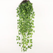 90cm sztuczne rośliny zielone wiszące liście bluszczu rzodkiewka wodorosty winogron sztuczne kwiaty winorośli strona główna ściana ogrodu strona dekoracji